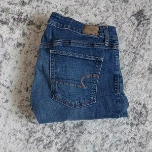 Super Skinny AE jeans, medium wash and high rise